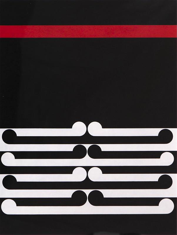Gordon Walters  Untitled , 1978 Acrylic on paper 450 x 340 mm  ______