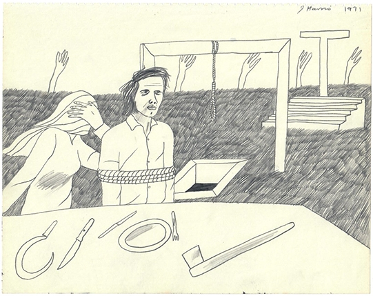 Jeffrey Harris  Figures in a Field , 1971 Pencil on paper 205 x 255 mm  _______