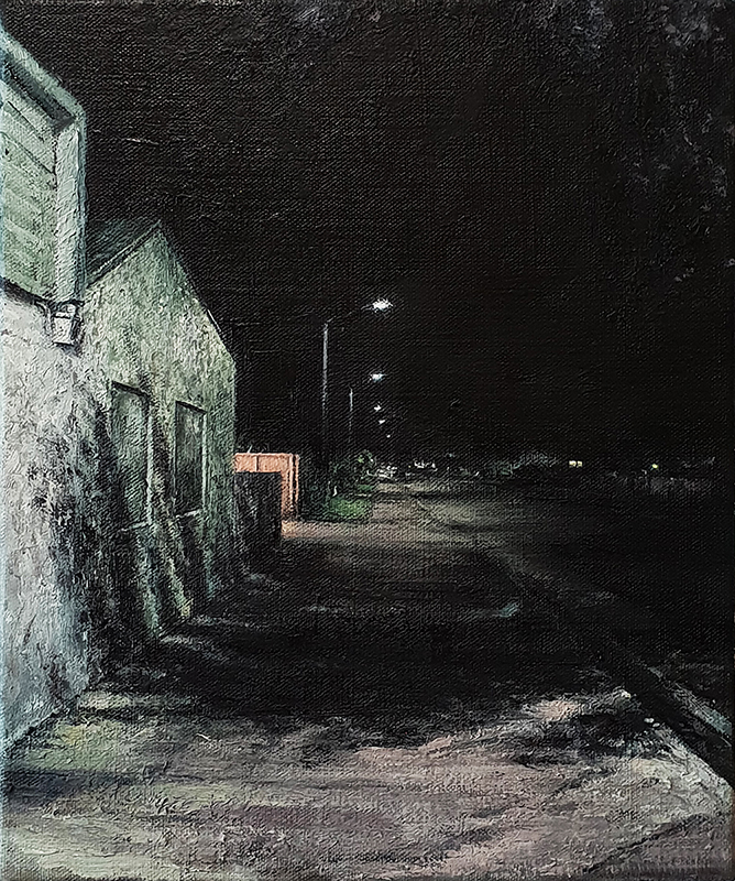 Daniel Unverricht  Brush , 2018 Oil on linen 300 x 250 mm [Private collection]  _______