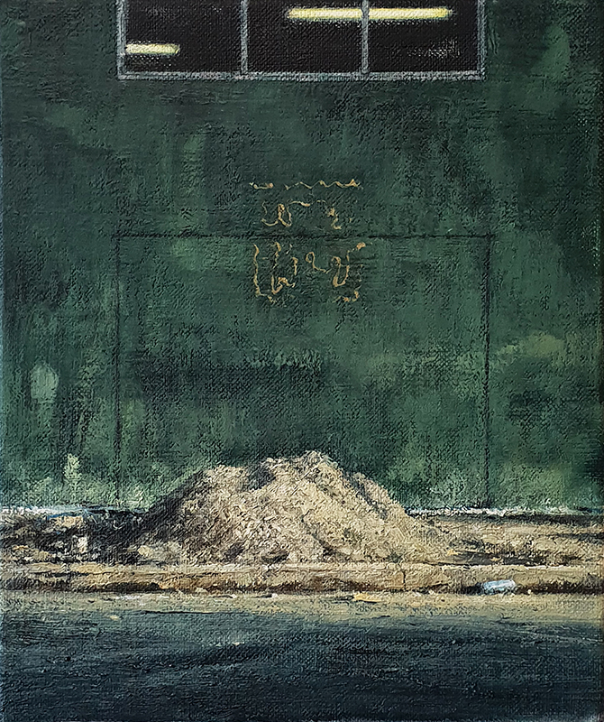 Daniel Unverricht  Tracer , 2018 Oil on linen 300 x 250 mm [Private collection]  _______