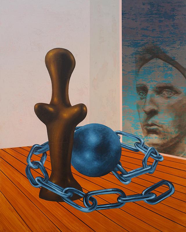 Roger Boyce  Burden of Dreams,  2018 Oil and acrylic on board 1500 x 1200 mm  _______