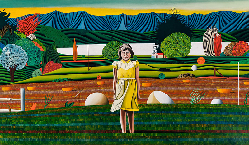 Jeffrey Harris  Magdalena at French Farm (AUTUMN) , 1997-2018 Oil on board 334 x 571 mm  _______