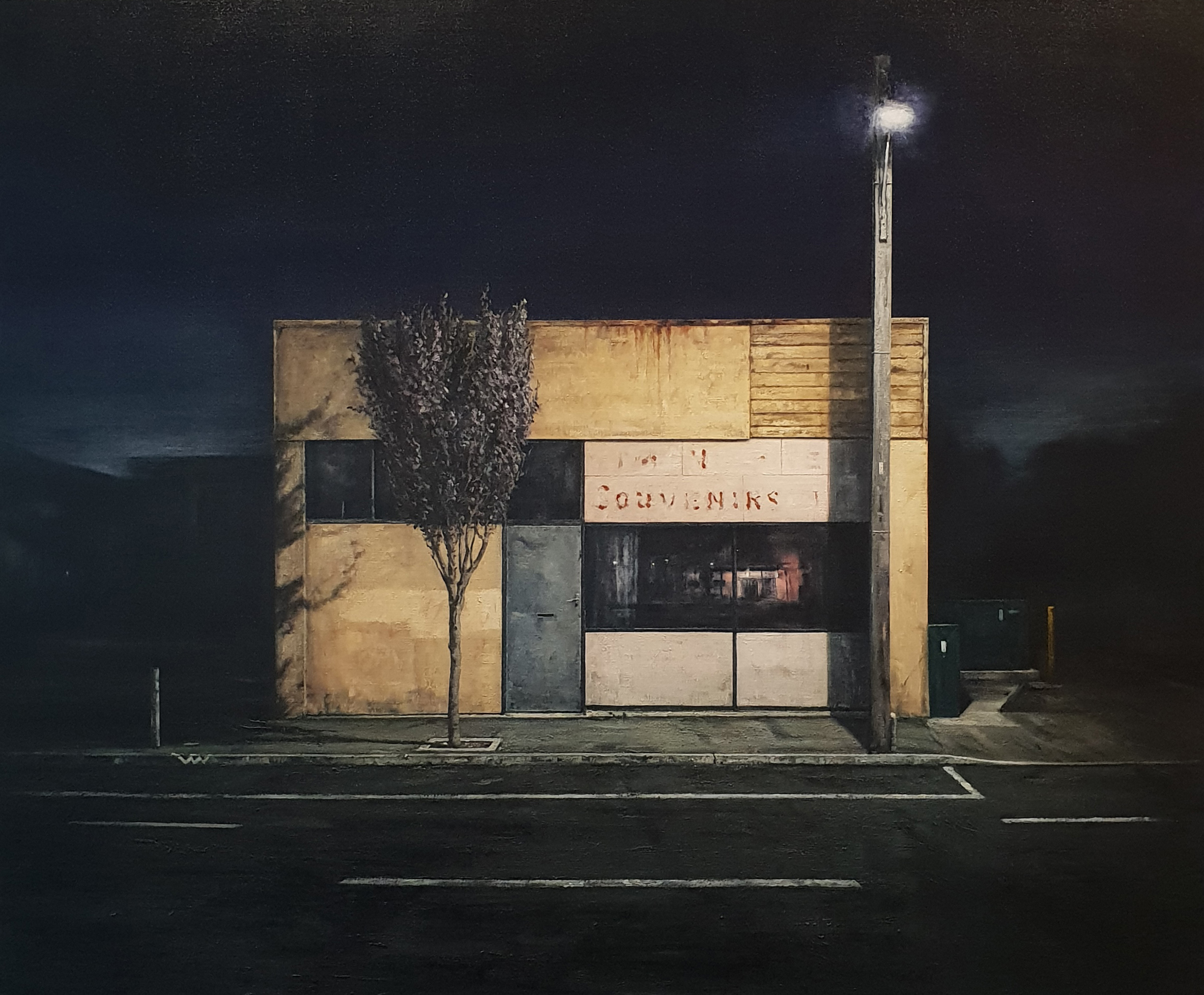 Daniel Unverricht  Center,  2018 Oil on linen 1525 x 1825 mm [Private collection]  _______