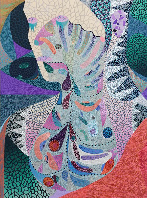 Arie Hellendoorn  Circulation Site , 2012/18 Acrylic on linen 1370 x 1010 mm  ______