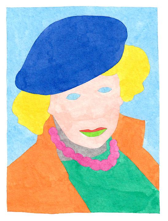 Wayne Youle  Hodgkins.F , 2018 watercolour on paper 130 x 110 mm  _______