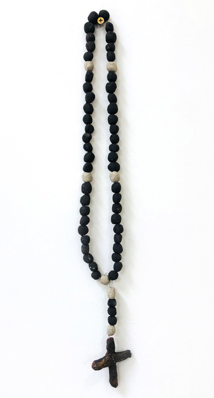 Richard Lewer  Rosary #3,  2018 Fired stoneware beads 450 mm [Private collection]  _______