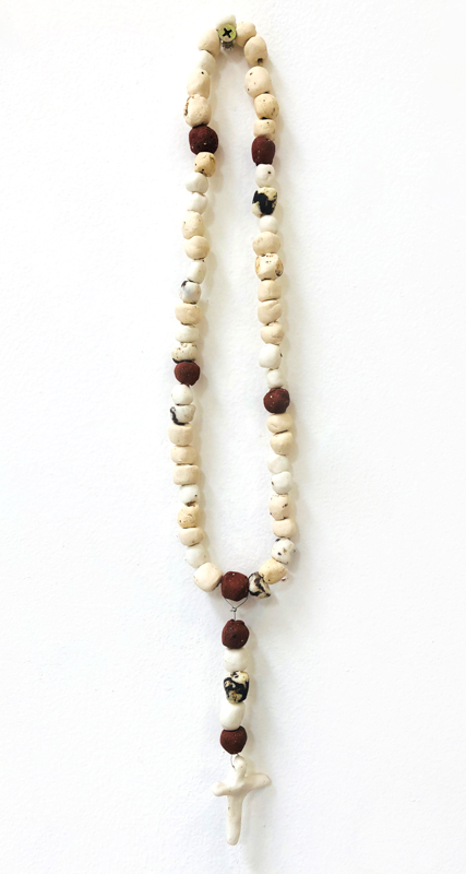 Richard Lewer  Rosary #1,  2018 Fired stoneware beads 380 mm  _______