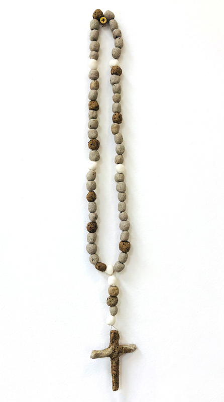 Richard Lewer  Rosary #2,  2018 Fired stoneware beads 450 mm [Private collection]  _______