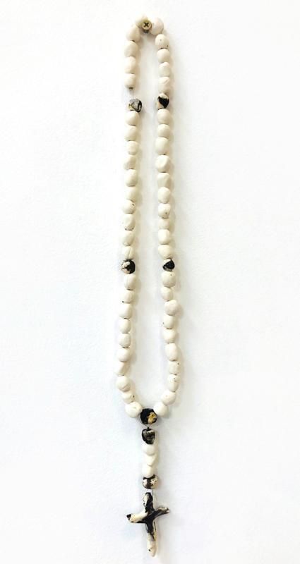 Richard Lewer  Rosary #4,  2018 Fired stoneware beads 460 mm  _______