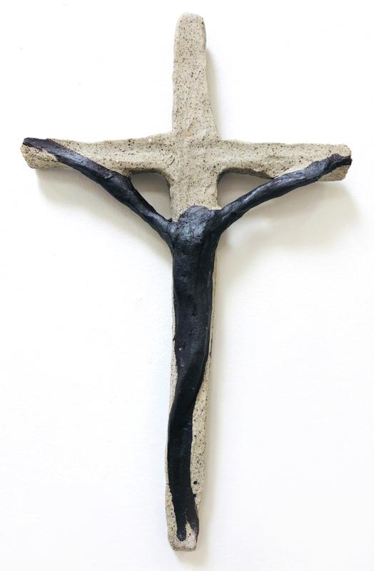 Richard Lewer  Crucifix #14,  2018 Fired stoneware 320 x 195 mm  _______