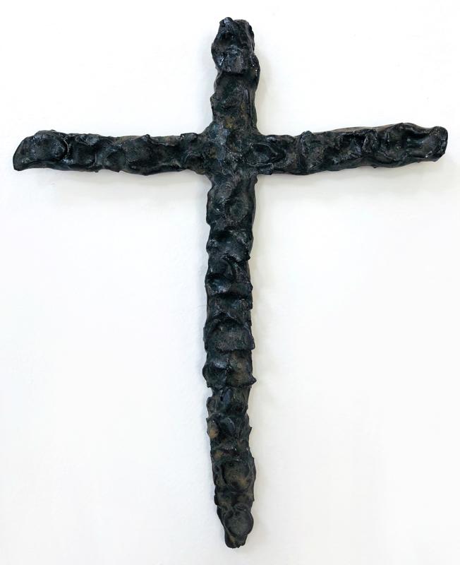 Richard Lewer  Crucifix #7,  2018 Fired stoneware 260 x 200 mm  _______