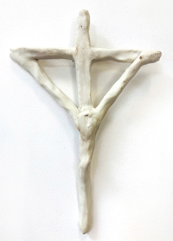 Richard Lewer  Crucifix #9,  2018 Fired stoneware 250 x 160 mm  _______