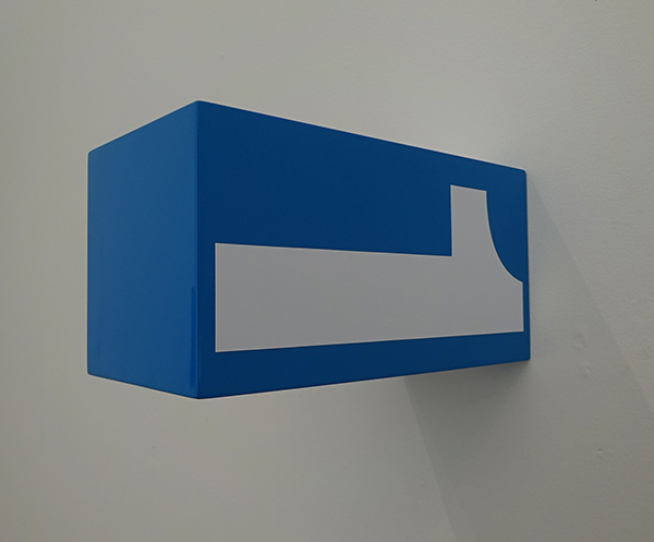 Anton Parsons  All the Time (Blue) , 2016 Lacquer and vinyl on aluminium $1,250 incl. GST  _______