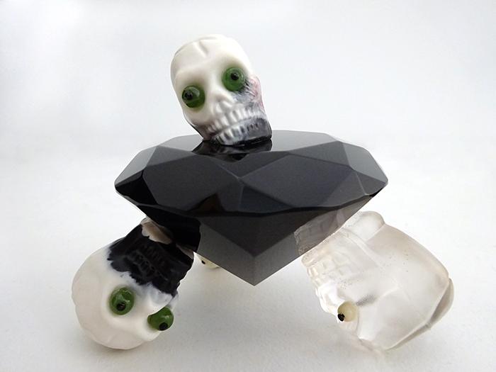 Wayne Youle  Black Diamond , 2009 Greenstone, bone and resin $1,800 incl GST  _______