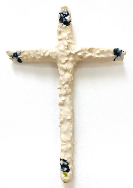 Richard Lewer  Crucifix #19,  2018 Fired stoneware 200 x 185 mm  _______
