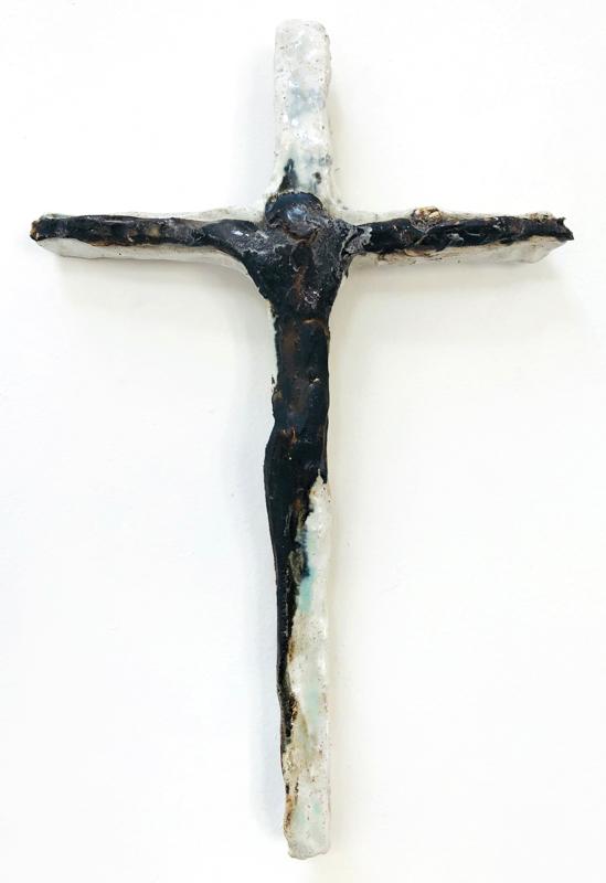Richard Lewer  Crucifix #24,  2018 Fired stoneware 240 x 180 mm  _______