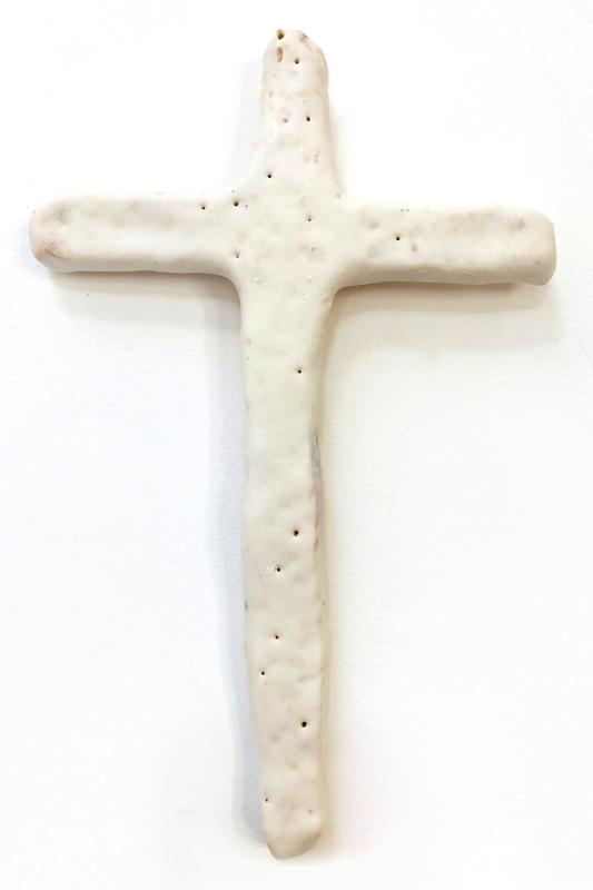 Richard Lewer  Crucifix #29,  2018 Fired stoneware 240 x 155 mm  _______