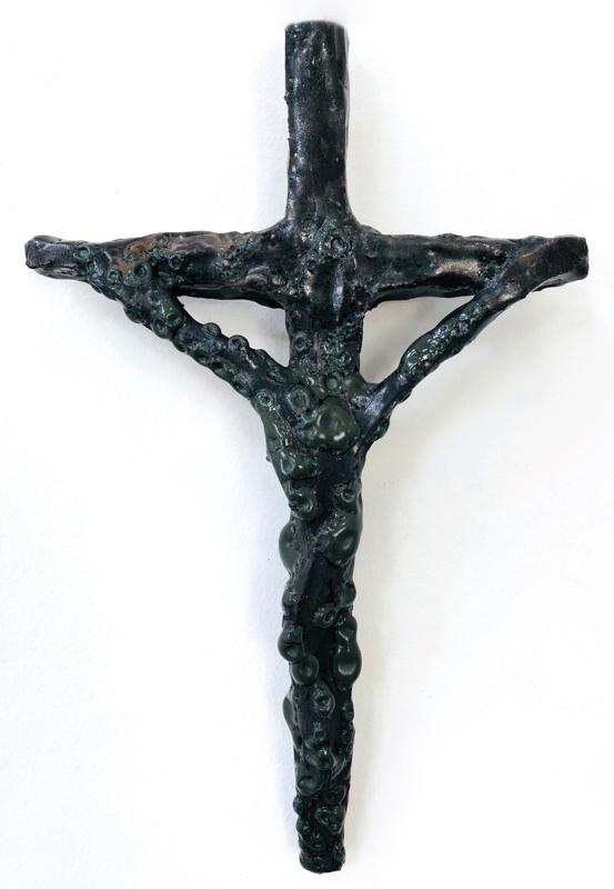 Richard Lewer  Crucifix #32,  2018 Fired stoneware 290 x 190 mm  _______