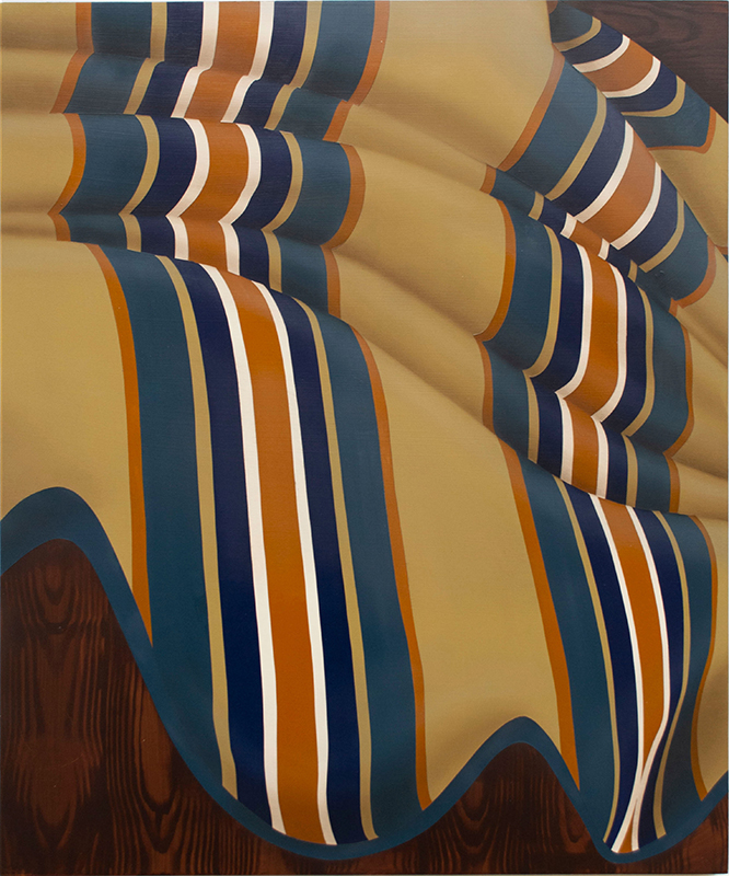 Casey Jeffery  Five or Six Folds,  2019 Acrylic and oil on board 500 x 600 mm [Private collection]  ______