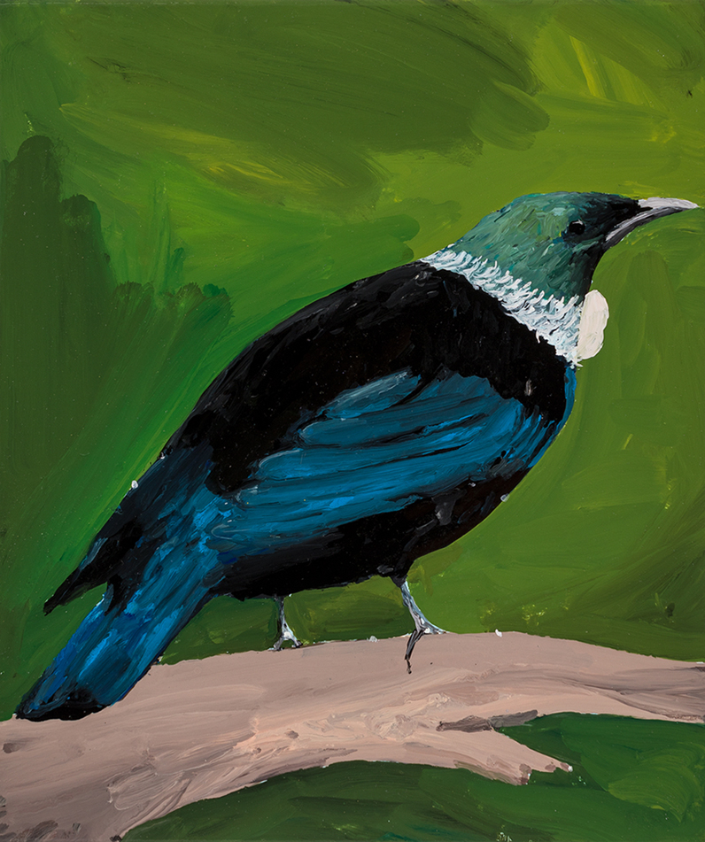 Richard Lewer  Tui,  2019 Enamel on canvas 355 x 310 mm [Private collection]  ______