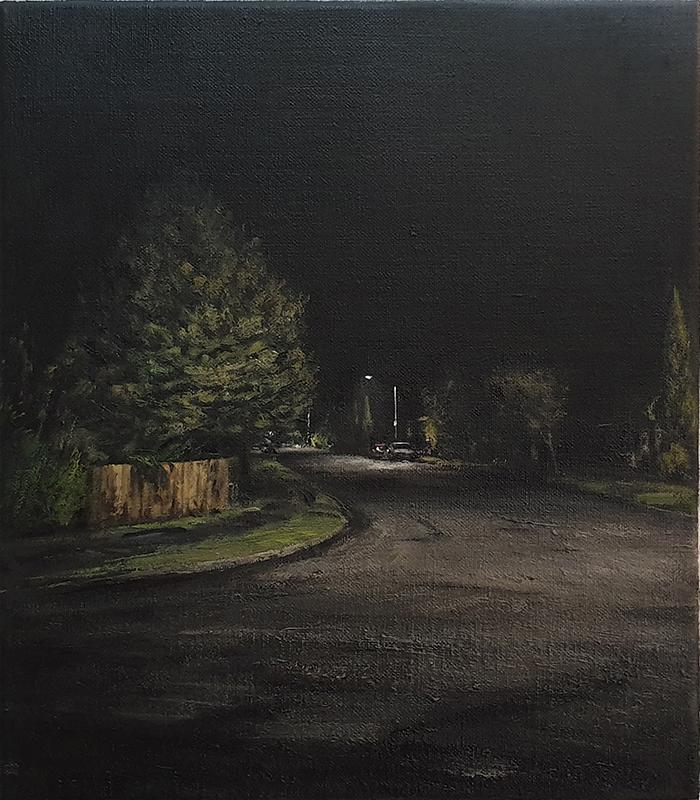 Daniel Unverricht  Ensphere , 2019 Oil on linen 400 x 350 mm [Private collection]  ______