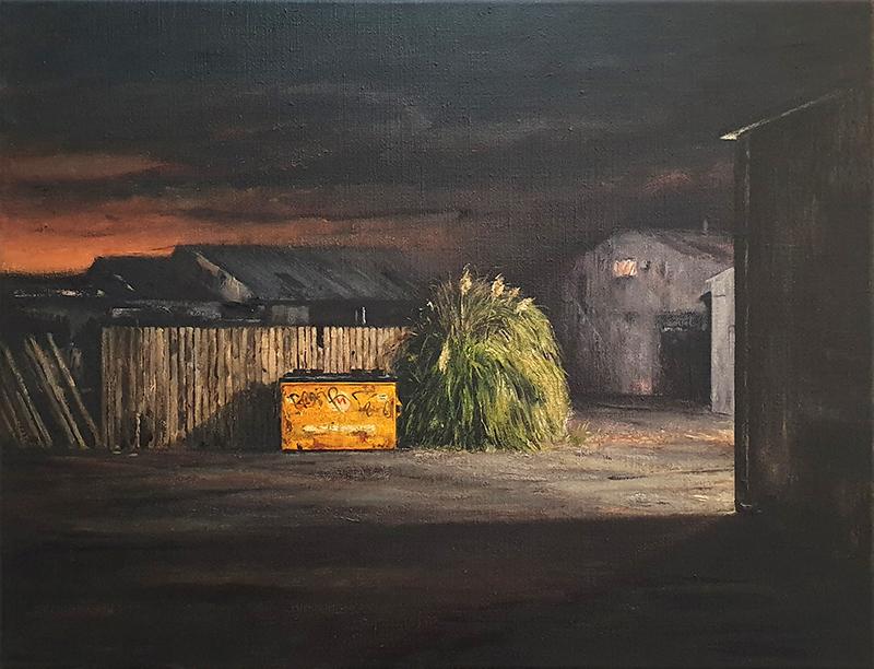 Daniel Unverricht  Easement , 2019 Oil on linen 500 x 650 mm [Private collection]  _______