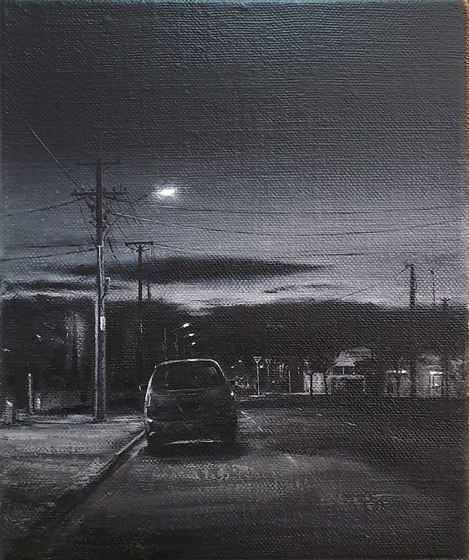 Daniel Unverricht  Mayfair , 2019 Oil on linen 300 x 250 mm [Private collection]  _______