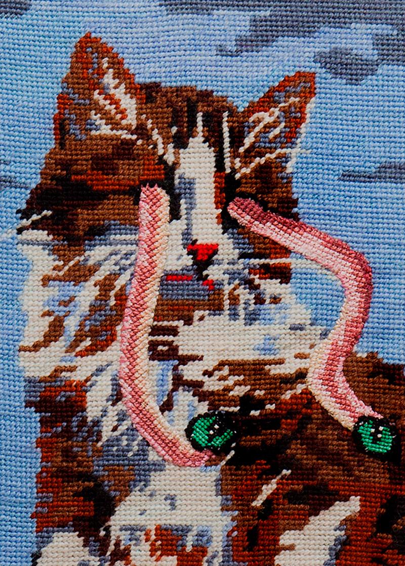 Angela Singer  Stalk , 2015 Framed wool, silk, and cotton needlepoint 520 x 420 mm  ______