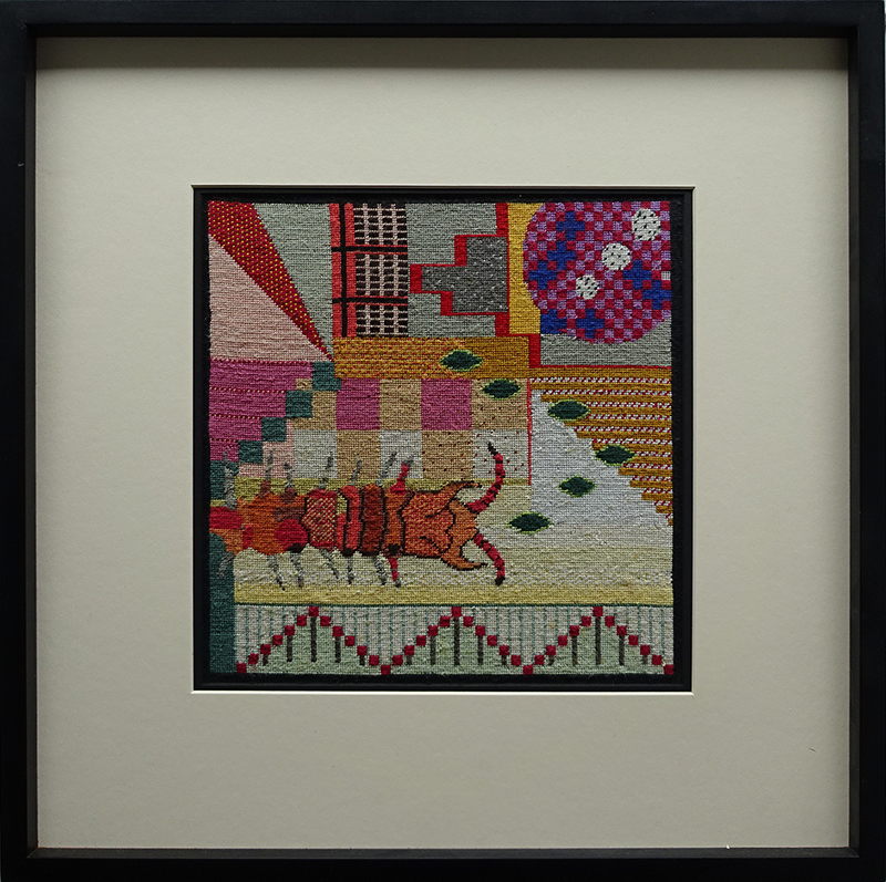 Katy Corner  Sectioned,  2006 Framed silk tapestry 290 x 282 mm  ______