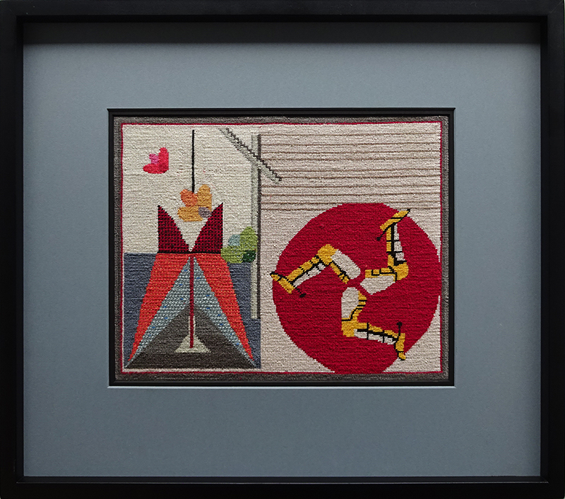 Katy Corner  Road Runner,  2002 Framed silk tapestry 248 x 314 mm  ______