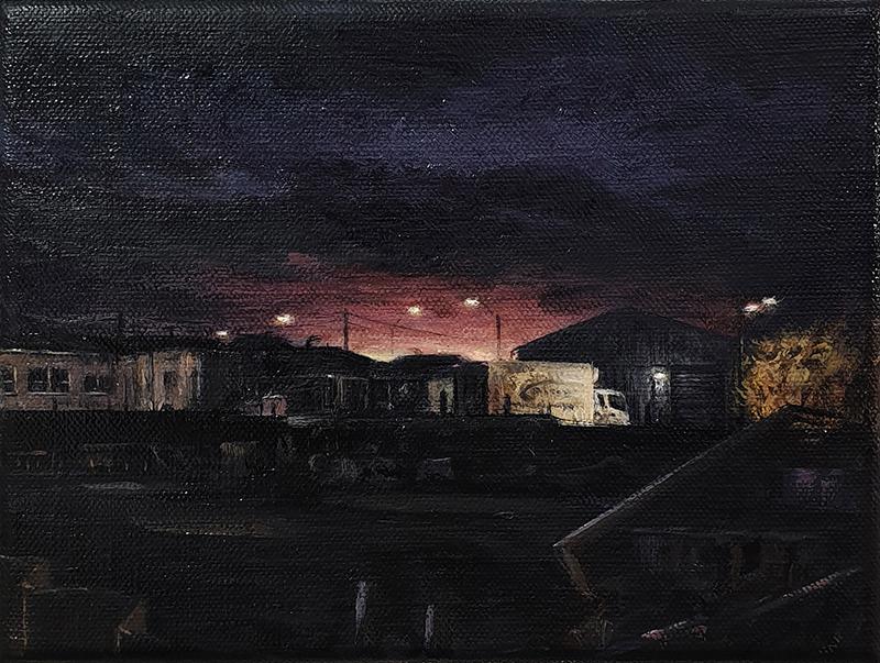 Daniel Unverricht  Measure , 2019 Oil on linen 150 x 200 mm [Private collection]  ______