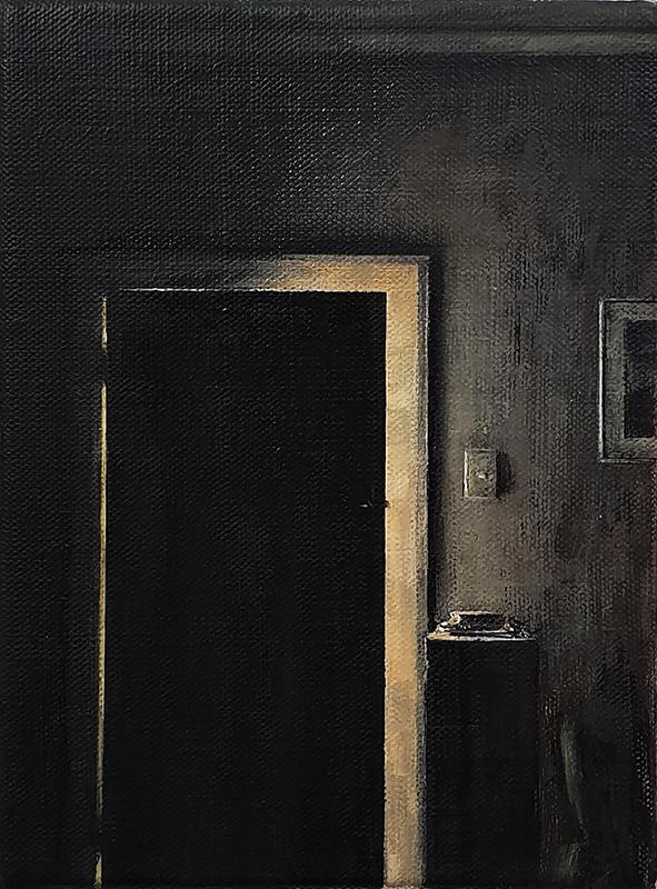Daniel Unverricht  Shore , 2019 Oil on linen 200 x 150 mm [Private collection]  ______