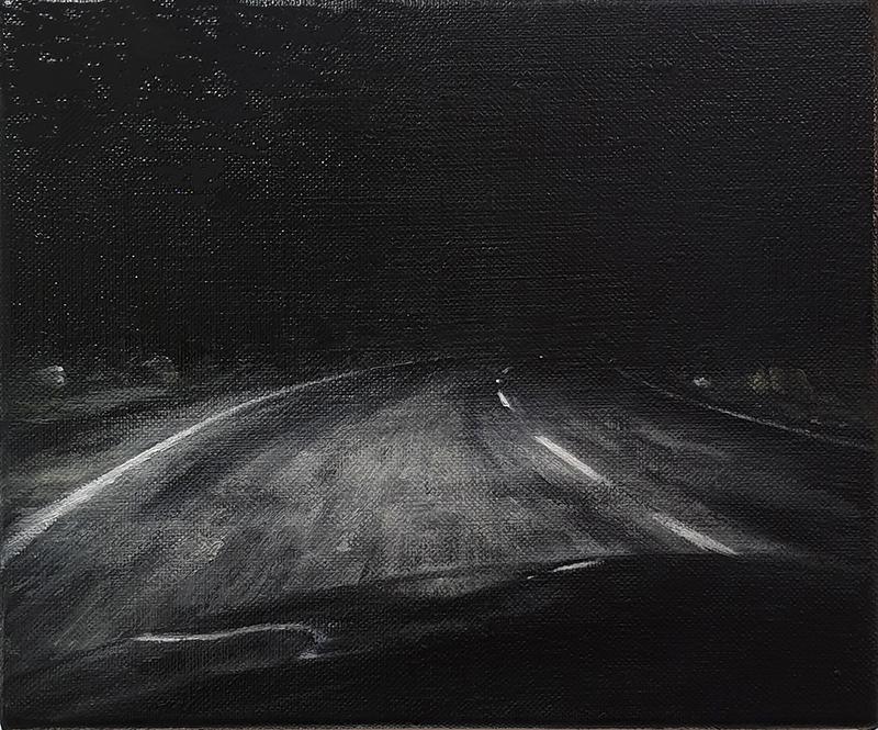 Daniel Unverricht  Drift , 2019 Oil on linen 250 x 300 mm  ______
