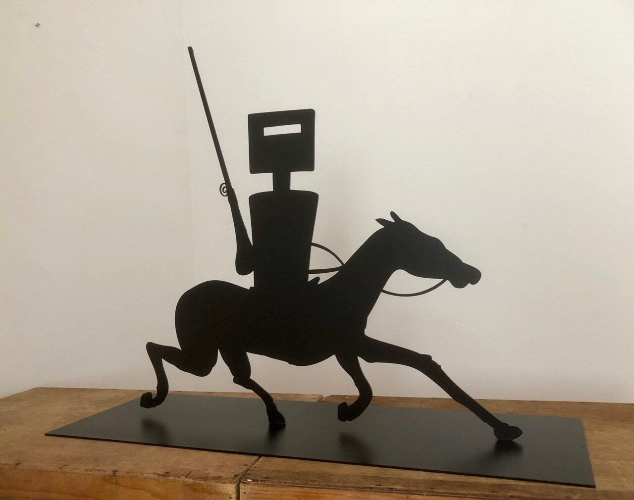 Wayne Youle  Riding, Riding, Riding , 2019 Powder coated silhouette steel 850 x 1110 x 395 mm Edition of 3  ______