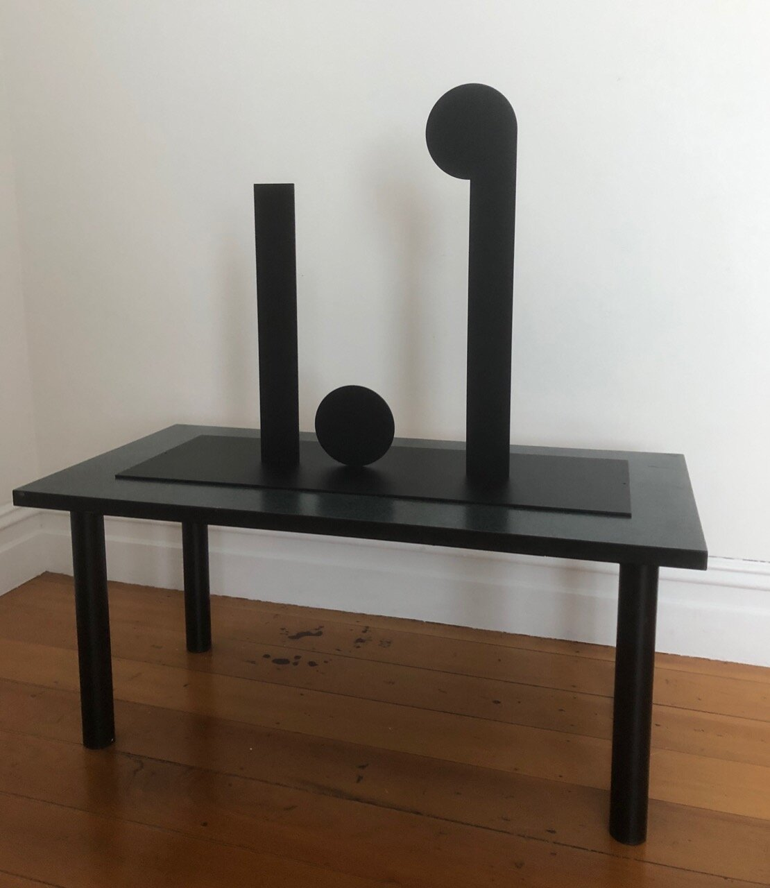 Wayne Youle  The crack up , 2019 Powder coated silhouette steel 600 x 800 x 300 mm Edition of 3  ______
