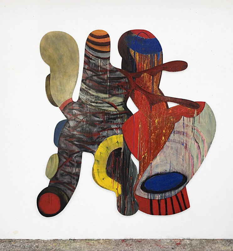 Rob McLeod  This Yin , 1995 Oil on ply 1600 x 1700 mm [Private collection]  _______