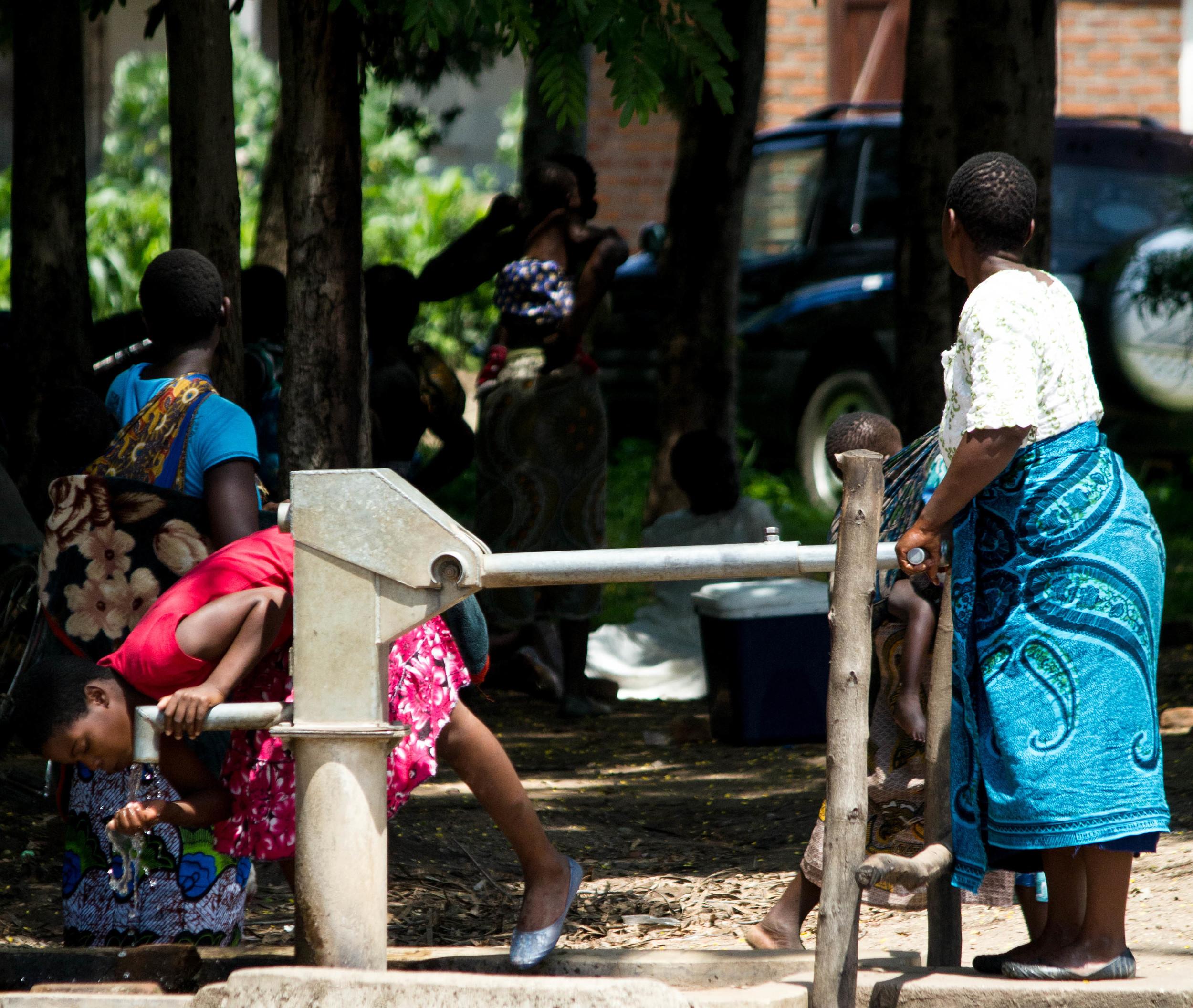 Borehole outside a health center