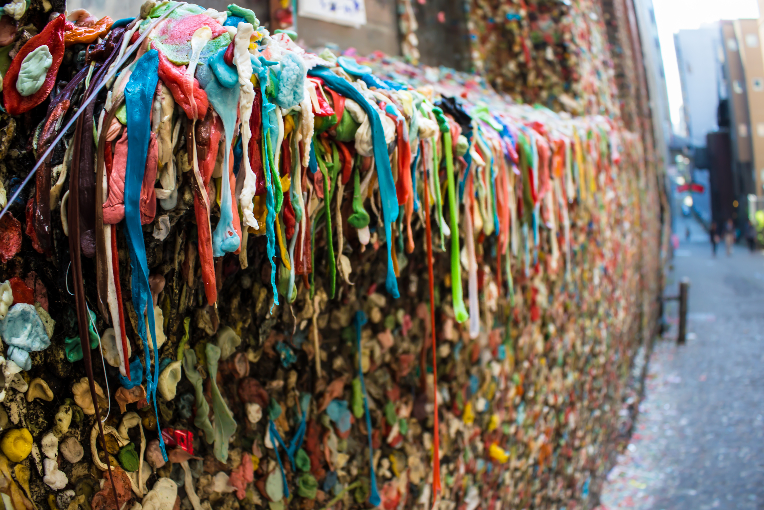 Gum wall before 2015 clean up