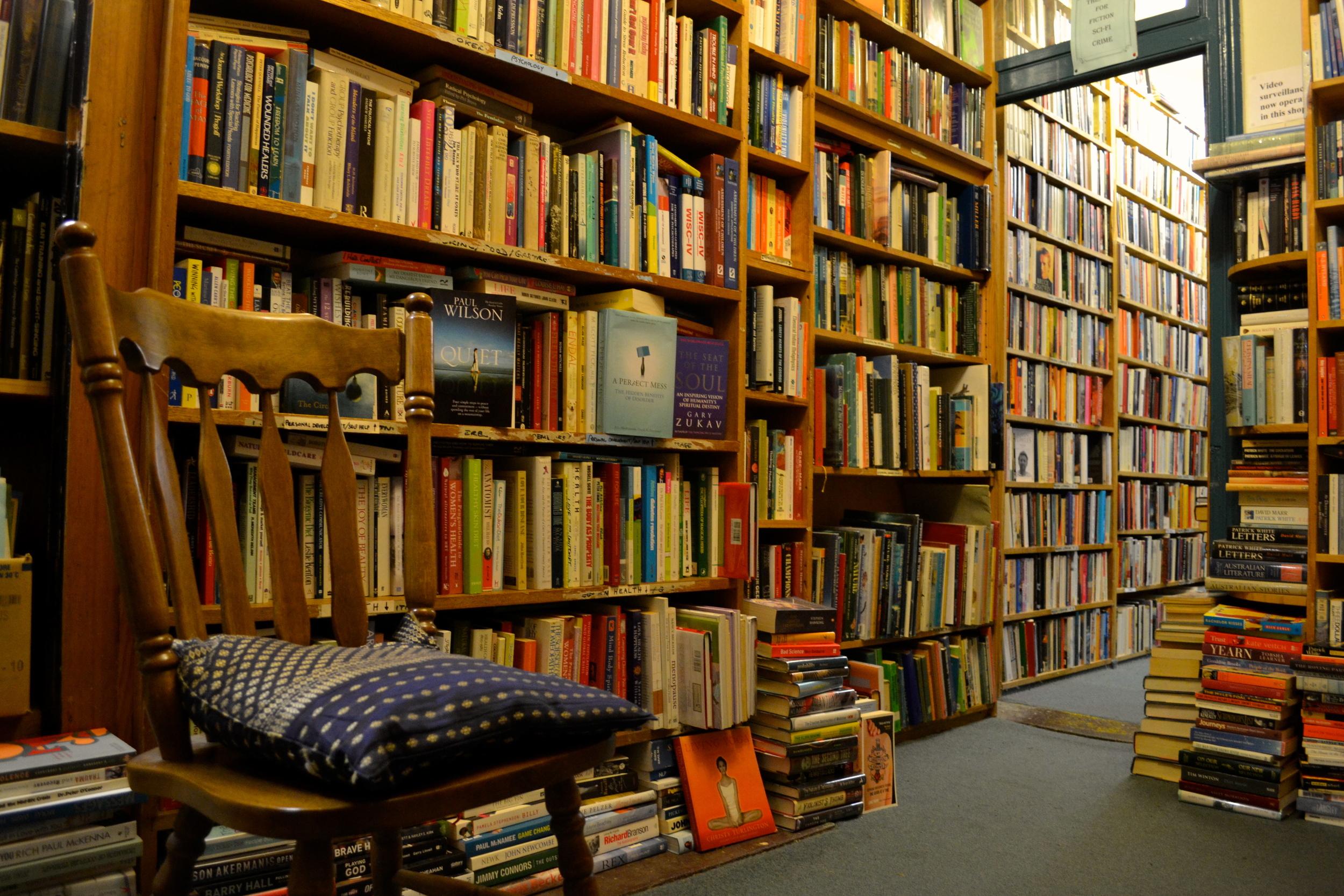 Inside Alice's Bookshop, 629 Rathdowne Street, Carlton North, Melbourne
