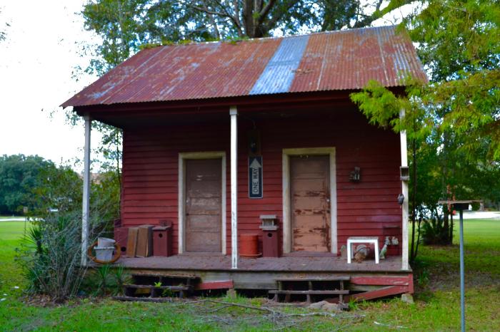 Building on the grounds of Saint Joseph Abbey, Saint Benedict, Louisiana.