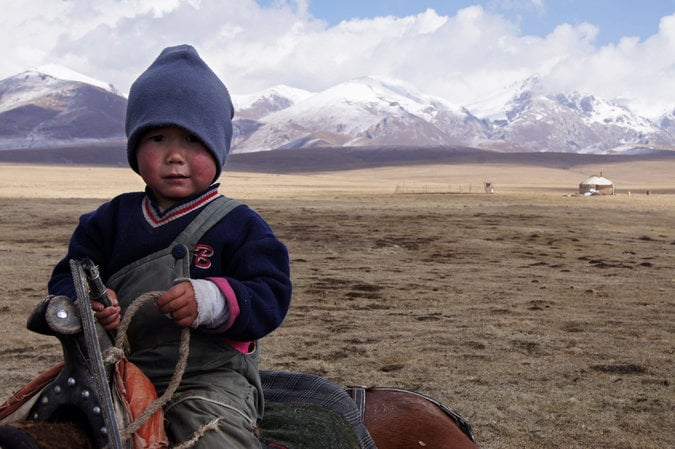 Kyrgyz child getting an education.