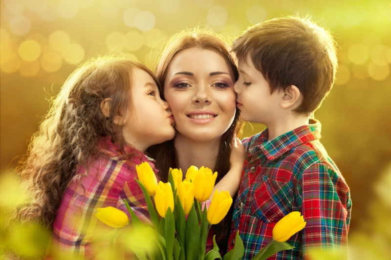 try not to SMILE...when your children surprise you with flowers.