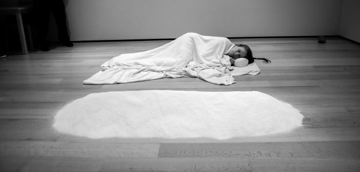 'Salt', Day 99 in '100 Ways to Consider Time', Marilyn Arsem. Photo Credit: Vela Om