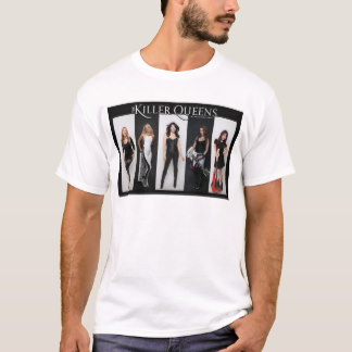 Black and White Striped Band Photo T-Shirt