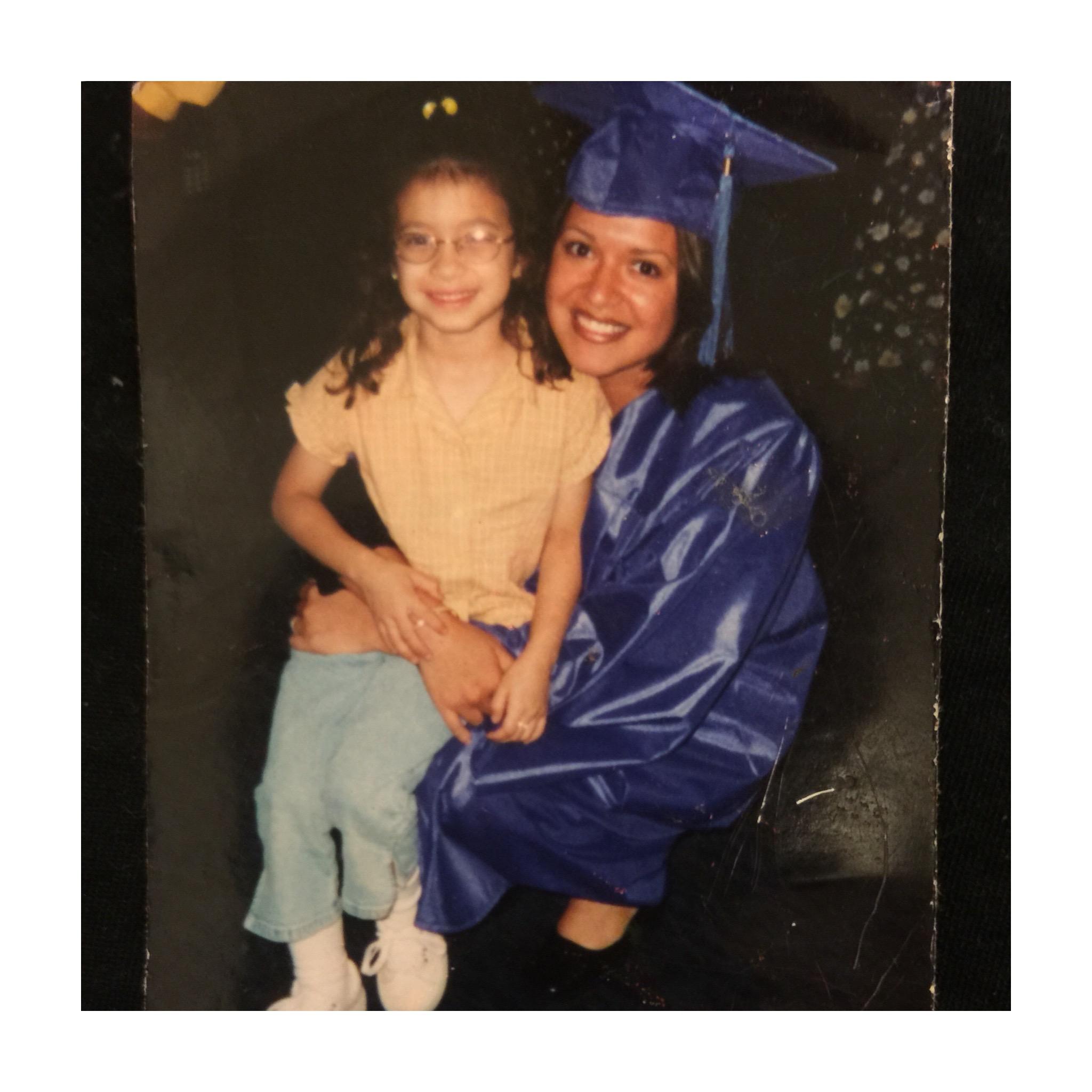 Linda and Elizabeths at Linda's College Graduation