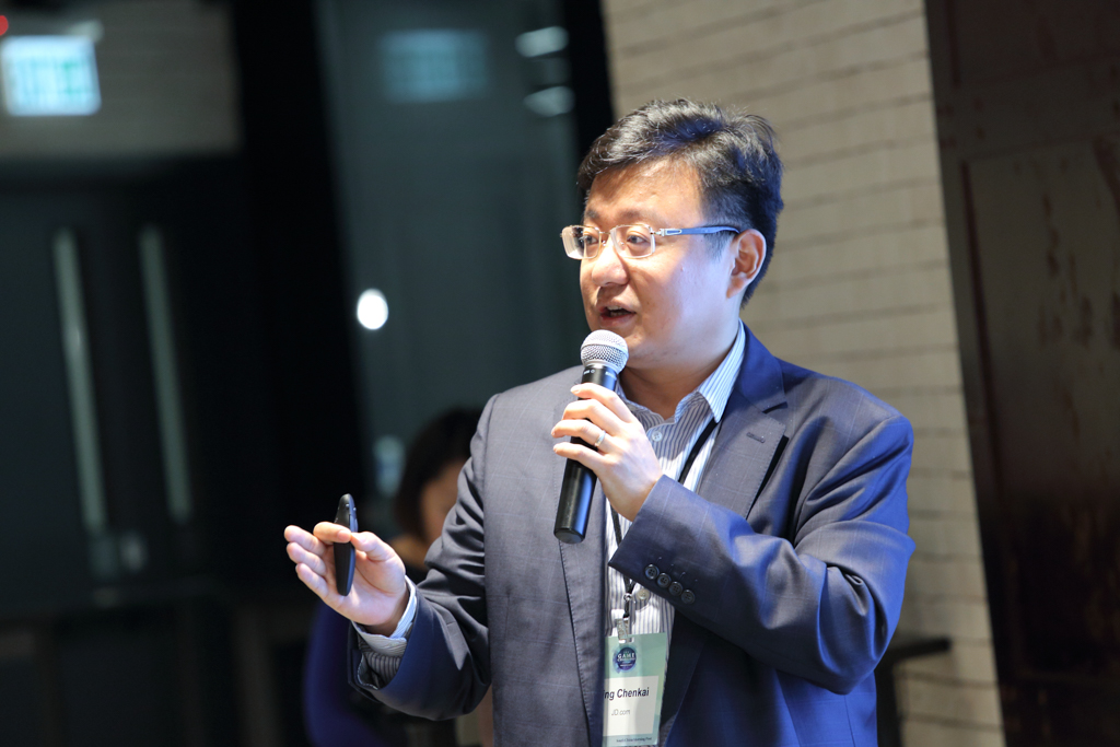 """Ling Chenkai, Vice President of Corporate Strategy & Operational Improvement,JD.com, speaking on """"Ushering in the fourth retail revolution - Are you ready?"""""""