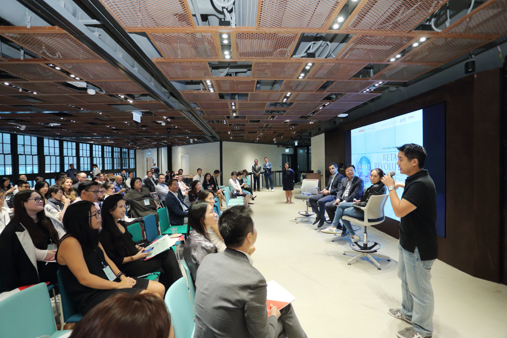 """Roland Yau, Managing Partner,CoCoon Ignite Ventures moderated the last panel of the day, """"Accelerating the pace of innovation by identifying megatrends and igniting ideas""""."""