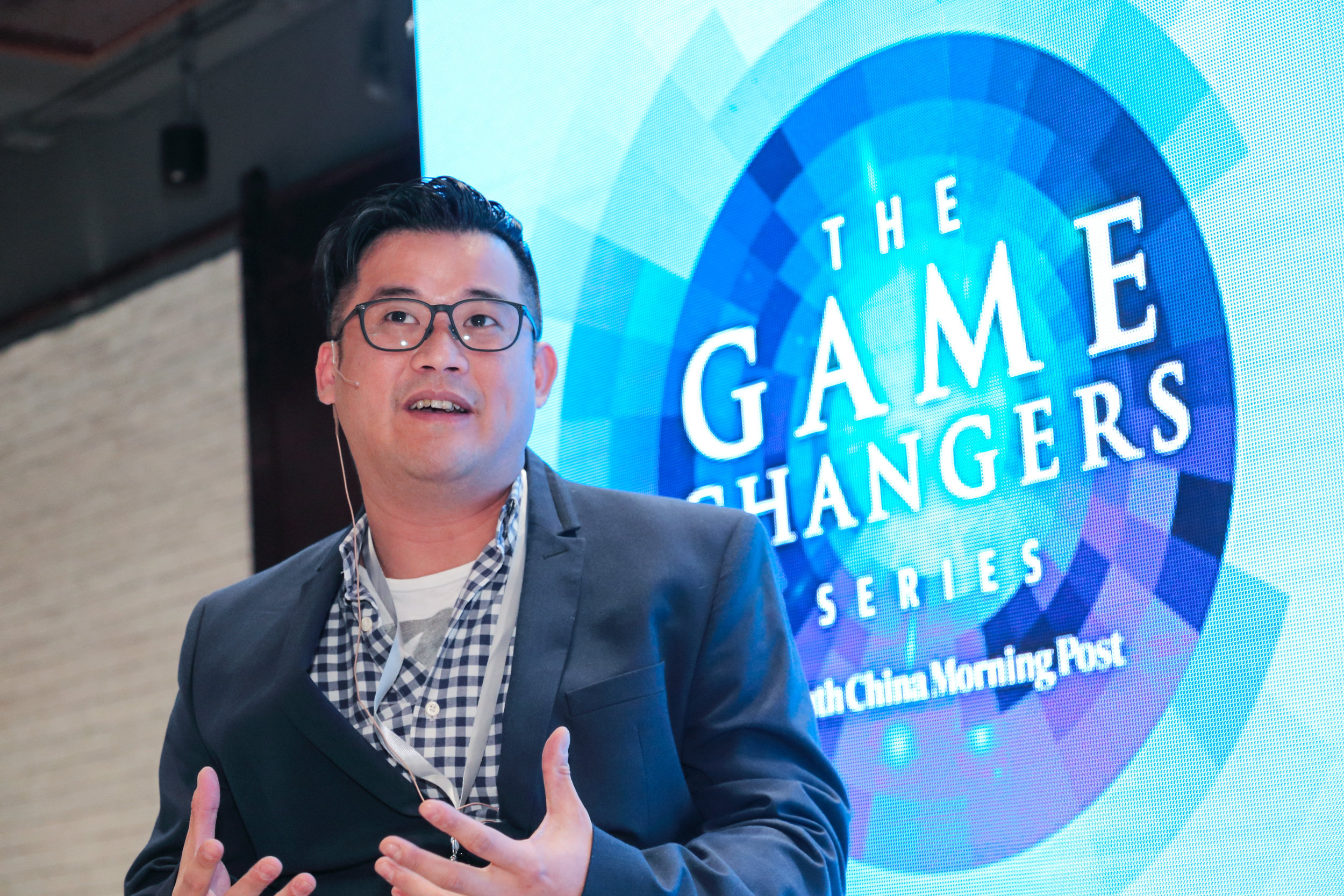 """Alan Fang, CEO, Formula Electric Racing (Hong Kong) Limited, sharing insights on """"Sport tourism for enhanced spectator experience""""."""
