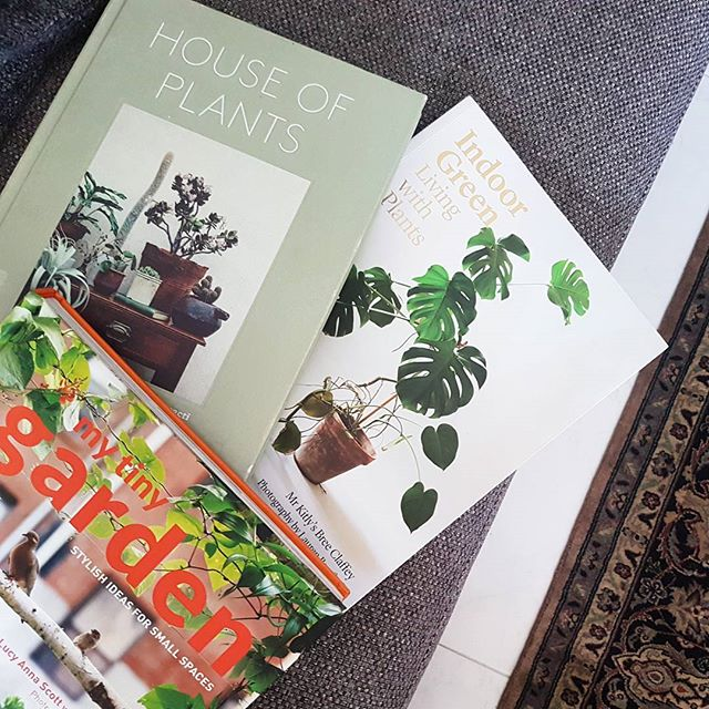 Time for some tea and reading. Finally got my hands on these! . . . . .  #houseofplants #mytinygarden #indoorgreen #livingwithplants #plantlover #isleofease #green #home #decor #plantphotography #interiors #urbangarden #singapore #nyc #germany #cactus #succulents #terrariums #jungalowstyle #style #greenteriors #grow #photography #inspo #instagood #books