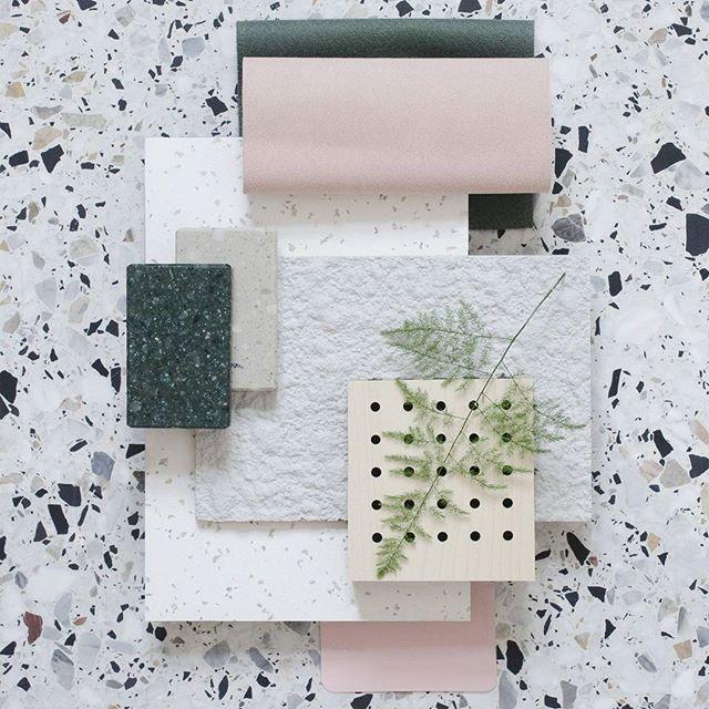 #textures #flatlay #inspo #playful #style #interiors #terrazzo #trends #pinkandgreen